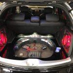 крепость в машине в багажнике с музыкой кузница автозвука